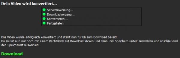 Abgeschlossener Download